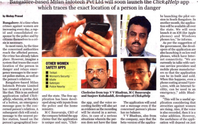 Click4help – One of the  first Safety App of India .